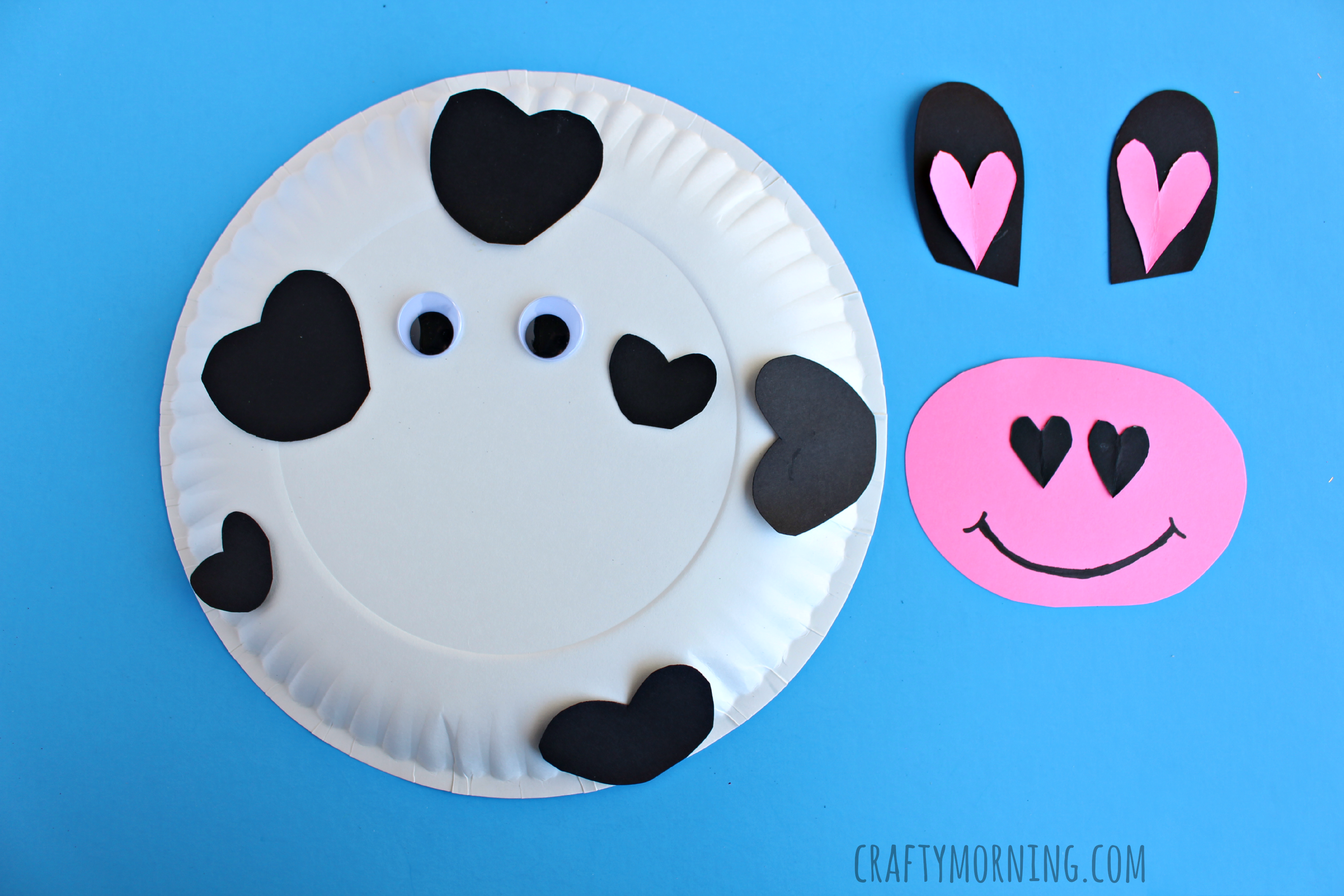 cow-heart-paper-plate-valentine-craft