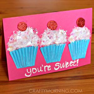 Cupcake Liner Valentine's Day Card Idea