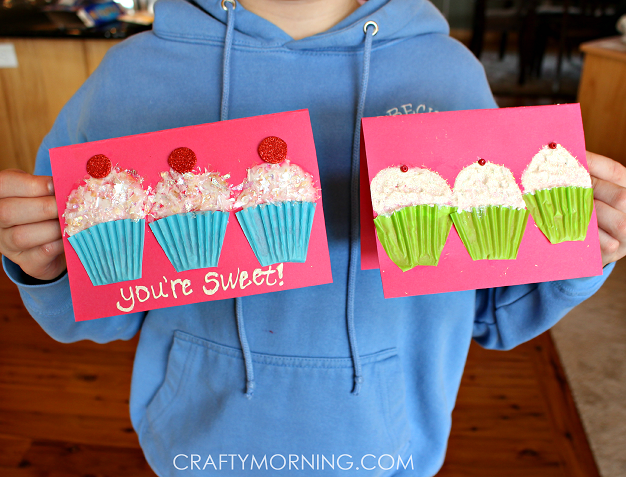 Cupcake Liner Valentines Day Card Idea Crafty Morning – Valentines Cards Craft Ideas