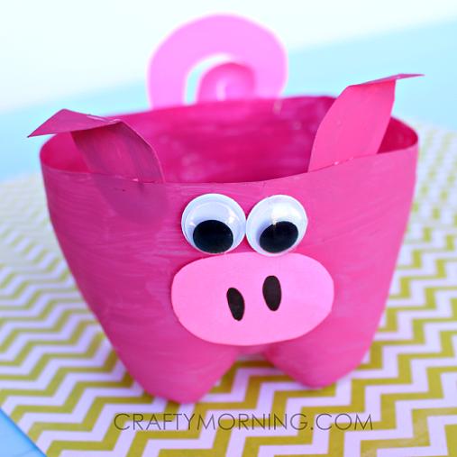 cute-2-LITER-BOTTLE-pig-craft-for-kids