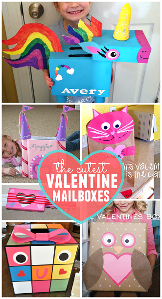 cute valentine mailbox ideas for kids classrooms - Valentine Boxes For Girls