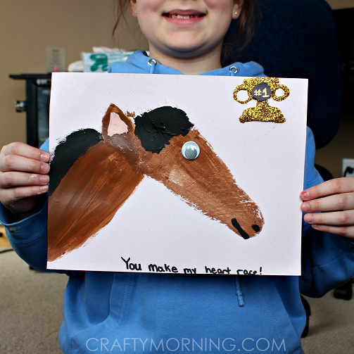 footprint horse craft for kids to make crafty morning