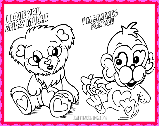 valentins day crafts an coloring pages - photo #47
