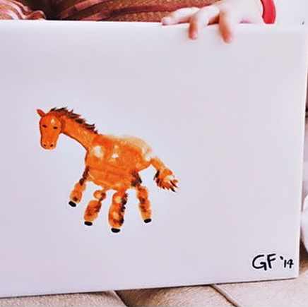 Cute handprint horse craft for kids crafty morning for Horse crafts for kids