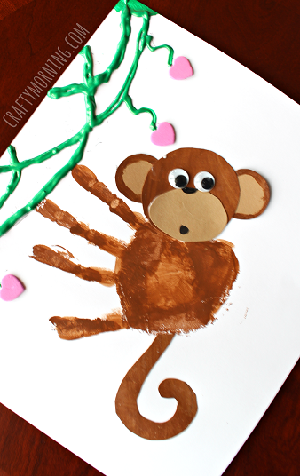 Have the kids paint their four fingers with brown paint and pressing ...