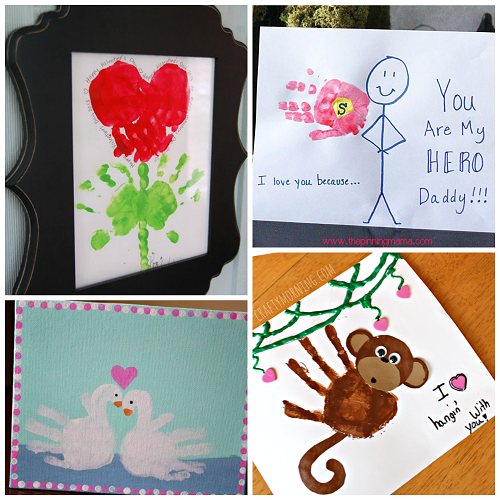 valentine's day handprint craft & card ideas - crafty morning, Ideas