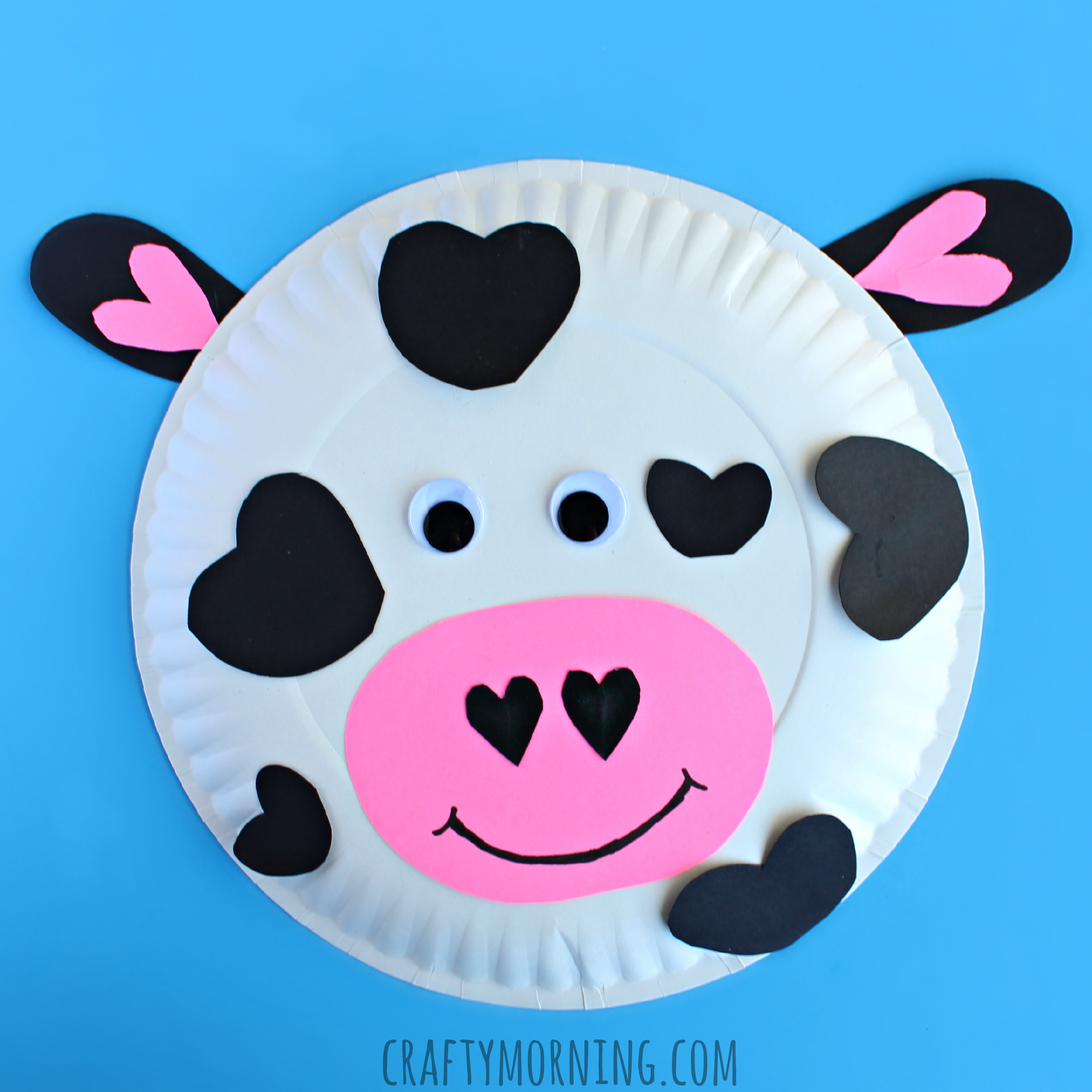 heart-paper-plate-cow-valentine-craft-for-kids & Paper Plate Cow Valentine Craft for Kids - Crafty Morning