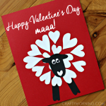 Heart Shaped Sheep Valentine Craft Idea
