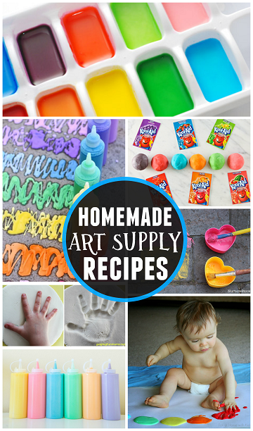 List of homemade art supply recipes crafty morning for Homemade arts and crafts