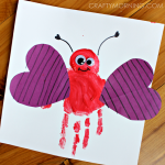 Handprint Love Bug Valentine Craft for Kids