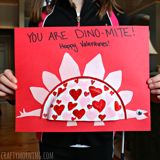 mini paper plate dinosaur valentine crafts - Valentine Paper Crafts