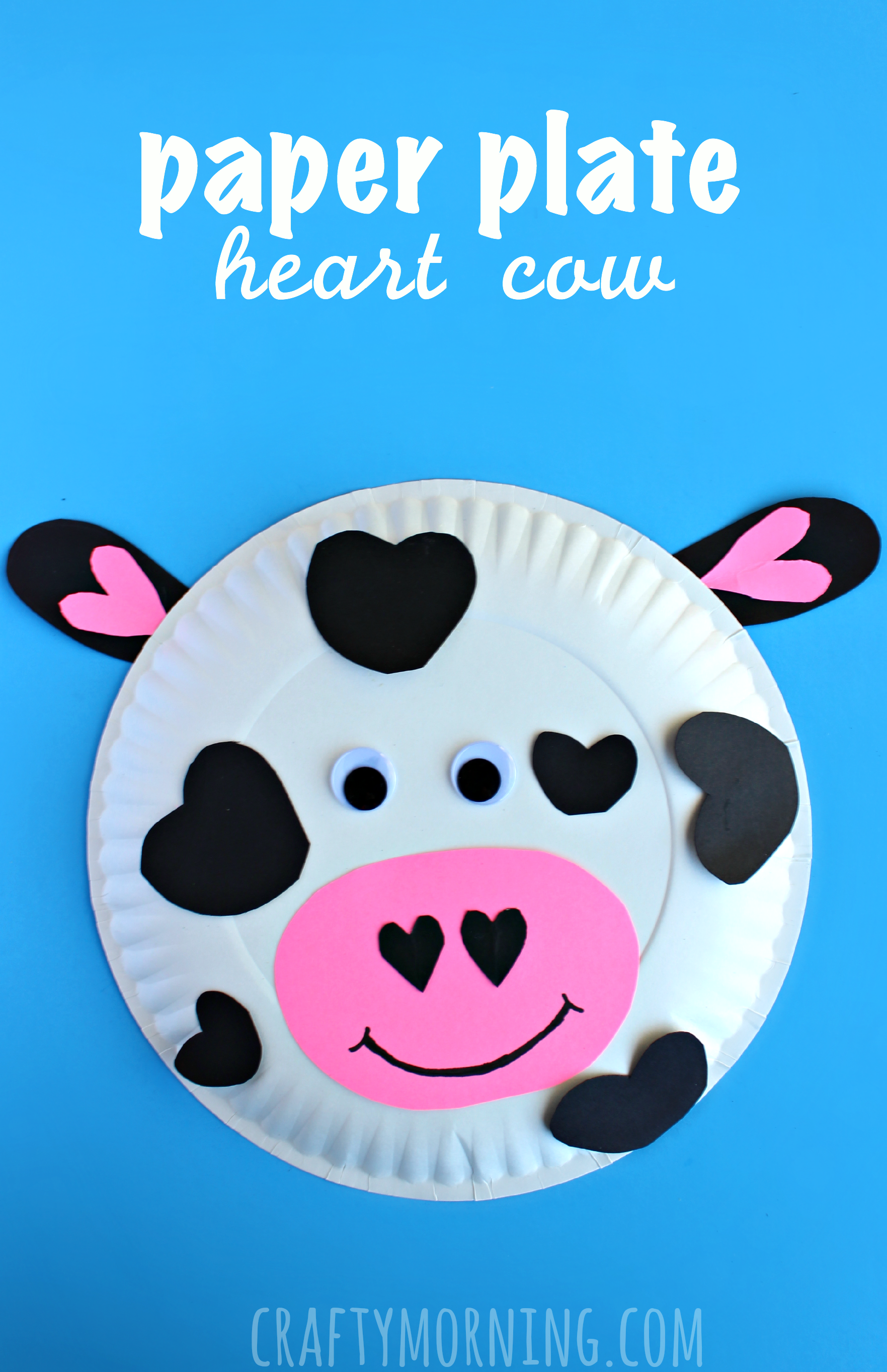 paper plate cow heart valentine craft for kids - Pictures Of Crafts For Kids