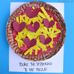 Paper Plate Pepperoni Pizza Valentine Craft