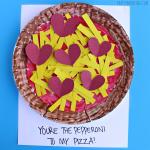 Paper Plate Pepperoni Pizza Valentine Craft