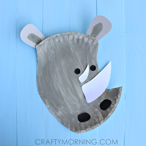 Paper Plate Rhino Craft for Kids : paper plate penguin craft - pezcame.com