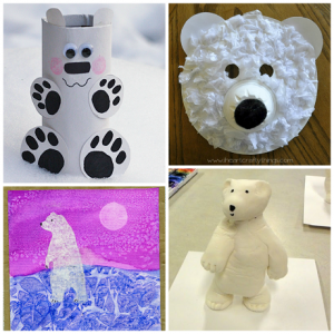 Winter Polar Bear Crafts for Kids to Make