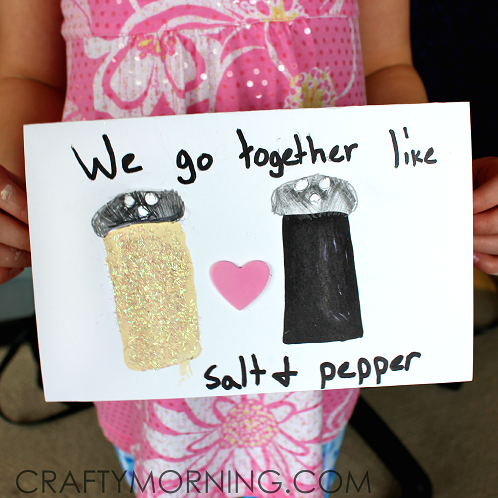 Salt And Pepper Valentines Card Idea For Kids