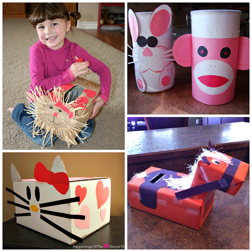 Valentine Mail Boxes For Girls To Make