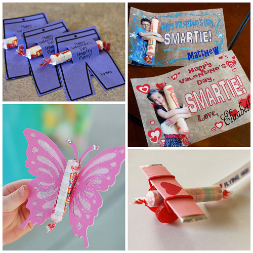 Valentine ideas for kids using smarties candy crafty for Toddler valentine craft ideas