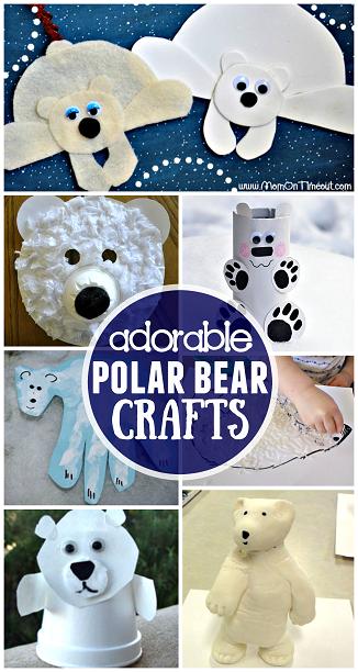 Winter Polar Bear Crafts For Kids