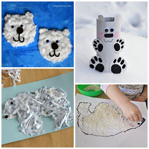 Winter Polar Bear Crafts For Kids