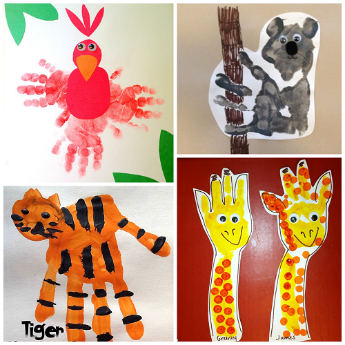 fun zoo animal handprint crafts for kids crafty morning