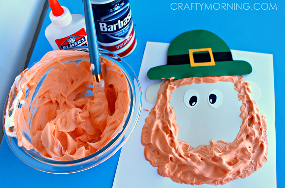 PUFFY-PAINT-LEPRECHAUN-CRAFT-FOR-KIDS