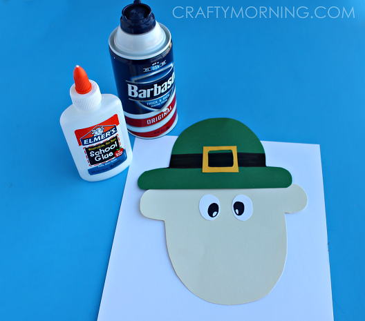 PUFFY-PAINT-LEPRECHAUN-CRAFT