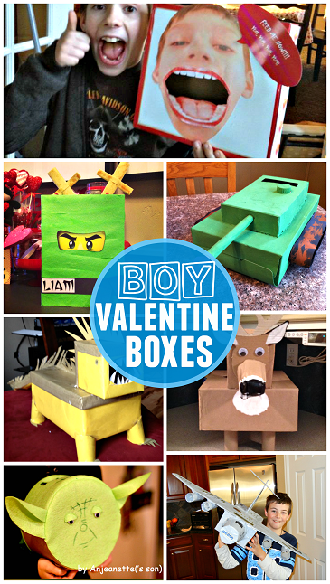 classroom valentine boxes for boys