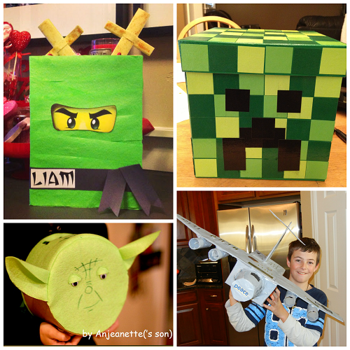 cool valentine mail boxes for boys