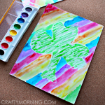 Crayon Resist St. Patrick's Day Craft for Kids