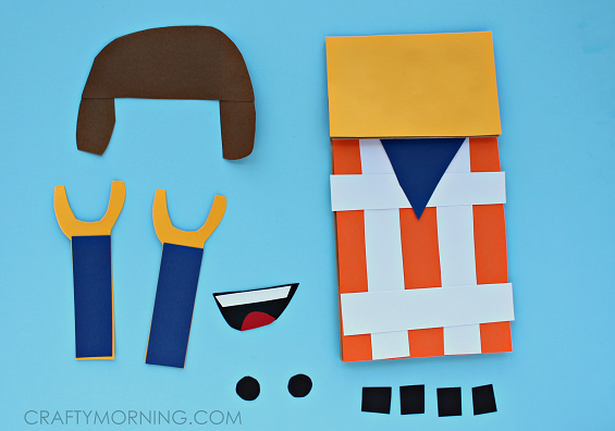 cute-paper-bag-lego-man-puppet-craft-for-kids