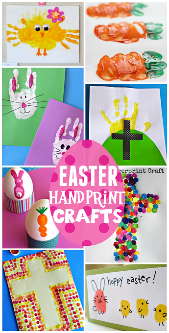 Easter Handprint And Fingerprint Crafts For Kids Crafty Morning