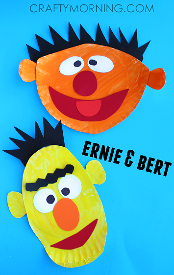 ernie-and-bert-paper-plate-craft-for-kids
