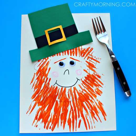 fork-leprechaun-st-patricks-day-craft-for-kids