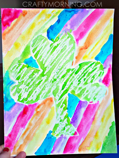 fun-crayon-resist-st-patricks-day-kids-craft