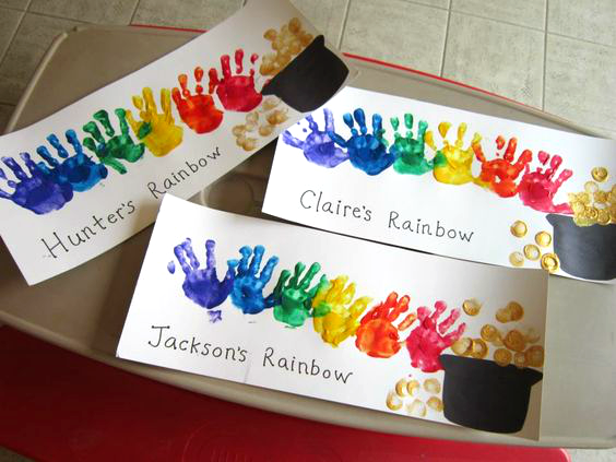 handprint-rainbow-st-patrick-kids-craft