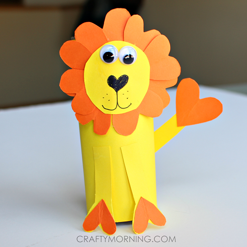 heart-shape-toilet-paper-roll-lion-craft-for-kids