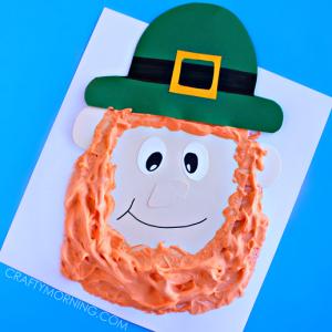 Puffy Paint Leprechaun Craft for Kids