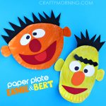Ernie and Bert Paper Plate Crafts for Kids