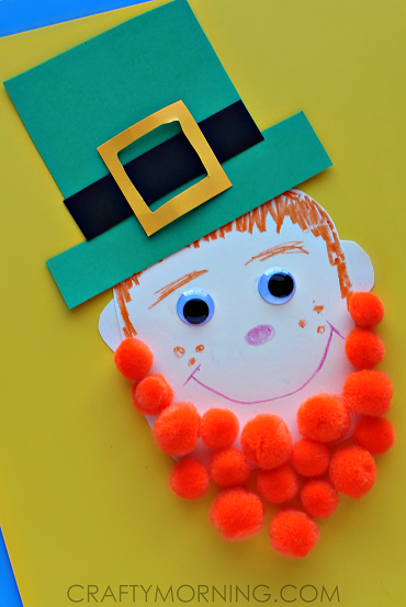 pom-pom-leprechaun-craft-for-kids-st-patricks-day-