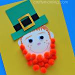 Pom Pom Leprechaun Craft for Kids