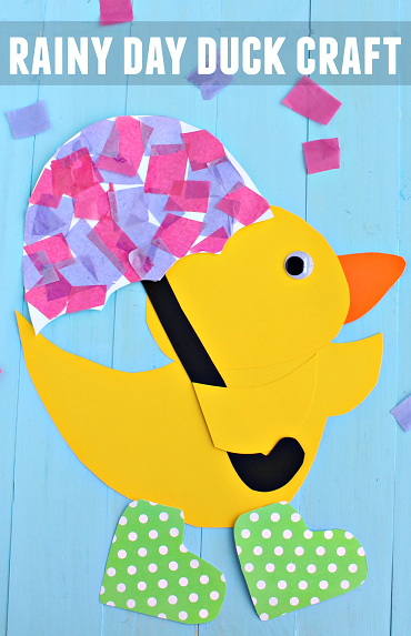 Rainy Day Duck Umbrella Spring Craft For Kids