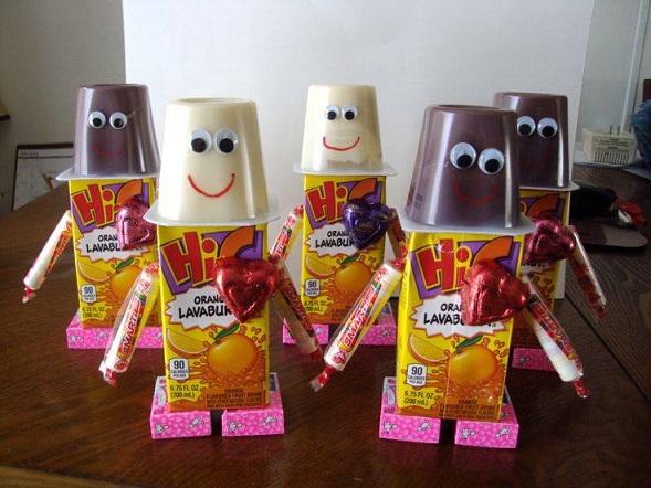 Valentine Robot Snacks for Kids