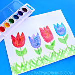 Salt Art for Kids: Spring Tulips