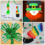 St. Patrick's Day Footprint & Handprint Crafts for Kids