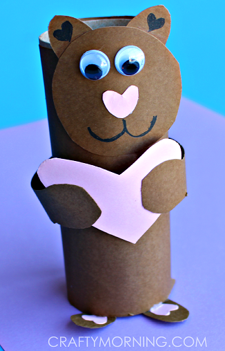 toilet-paper-roll-valentine-bear-craft-for-kids-