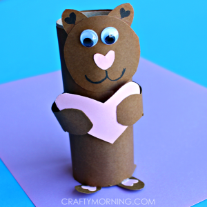 Toilet Paper Roll Valentine Bear Craft