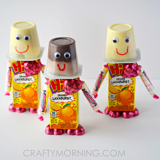 valentine robot snacks for kids to make - Valentine Snacks For School