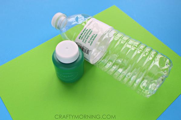 Water Bottle Shamrock Stamp Craft For Kids Crafty Morning